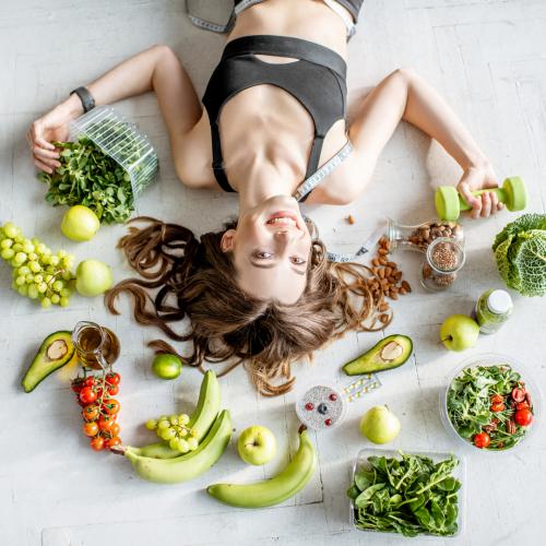 Ernährung_Frau am Boden_III